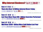 why internet business
