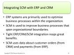 integrating scm with erp and crm