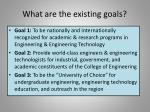 what are the existing goals