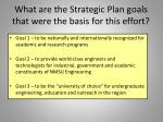 what are the strategic plan goals that were the basis for this effort
