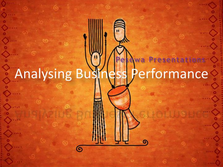 analysing business performance n.