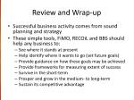 review and wrap up