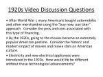 1920s video discussion questions