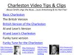 charleston video tips clips bessie smith sings the blues louis armstrong his hot five