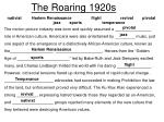 the roaring 1920s1