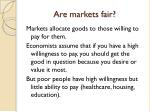 are markets fair