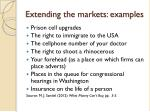 extending the markets examples