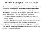 why the washington consensus failed