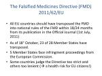 the f alsified medicines directive fmd 2011 62 eu