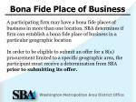 bona fide place of business