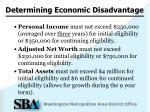 determining economic disadvantage1