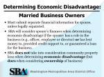 determining economic disadvantage2