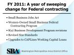 fy 2011 a year of sweeping change for federal contracting