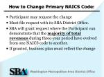 how to change primary naics code1