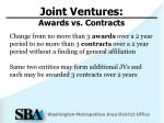 joint ventures awards vs contracts