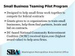 small business teaming pilot program