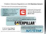 problem emissions regulations are oem business concern