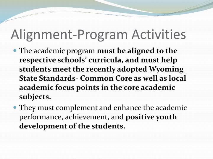 Alignment-Program Activities