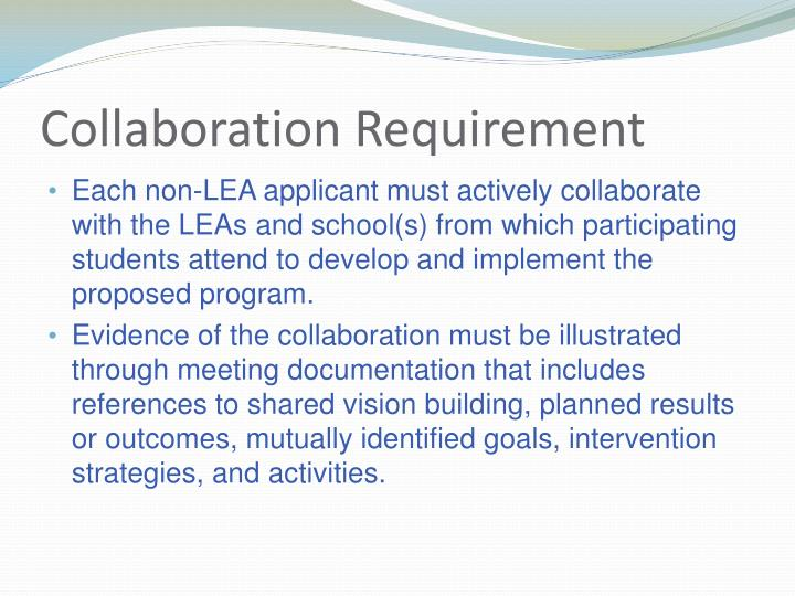 Collaboration Requirement