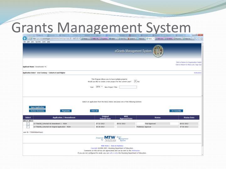 Grants Management System