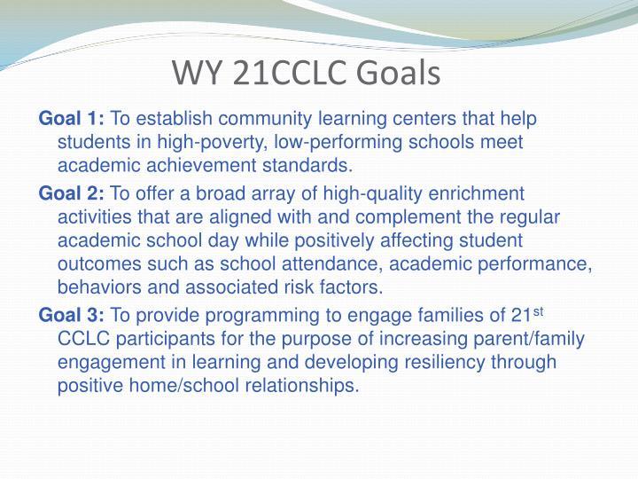 WY 21CCLC Goals