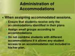 administration of accommodations2