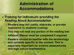 administration of accommodations4