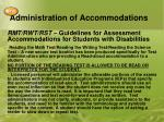 administration of accommodations5