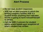 alert process