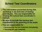 school test coordinators