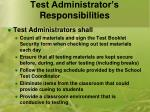 test administrator s responsibilities