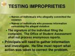 testing improprieties2