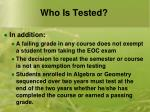 who is tested2