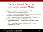 emergent research stream into low income business models