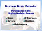 business buyer behavior1