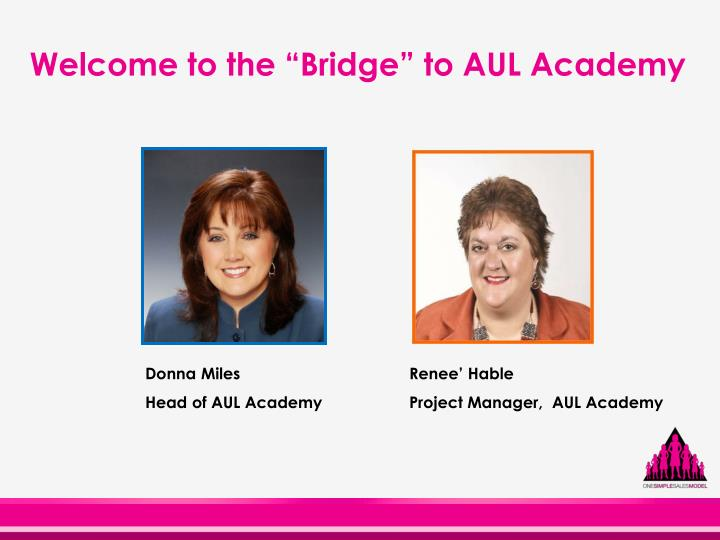welcome to the bridge to aul academy n.