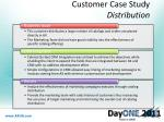 customer case study distribution