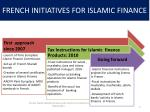 french initiatives for islamic finance