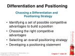 differentiation and positioning2