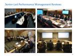 senior led performance management reviews
