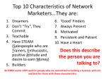 top 10 characteristics of network marketers they are