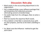 discussion role play