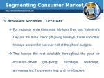 segmenting consumer market21