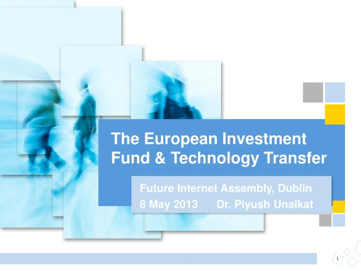 the european investment fund technology transfer n.