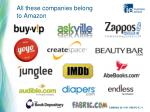 all these companies belong to amazon