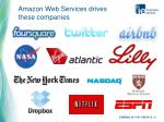 amazon web services drives these companies