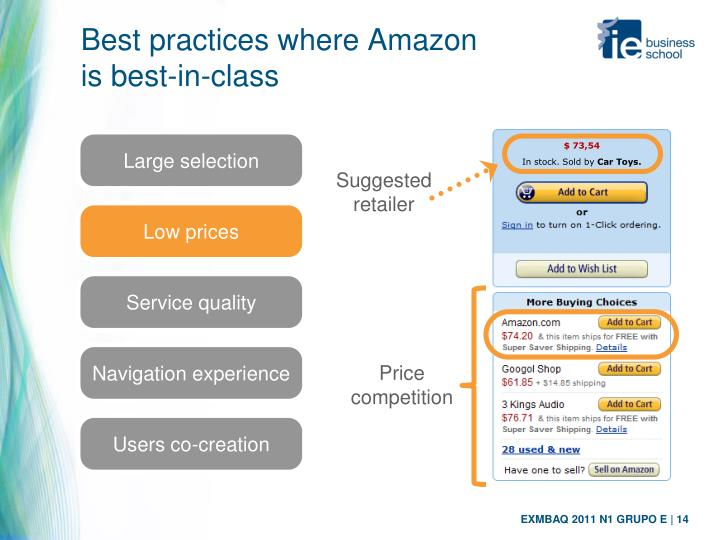 Best practices where Amazon
