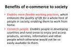 benefits of e commerce to society