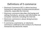 definitions of e commerce