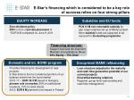 e star s financing which is considered to be a key role of success relies on four strong pillars